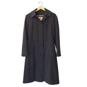 Burberry Long Overcoat Women's Wool Lined Coat 8